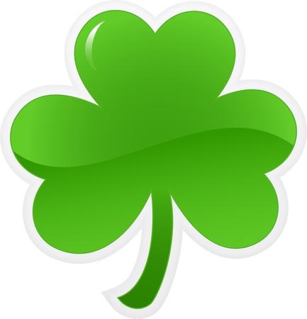 Shamrock or clover icon. illustration