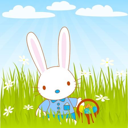 easter Mr bunny Vector