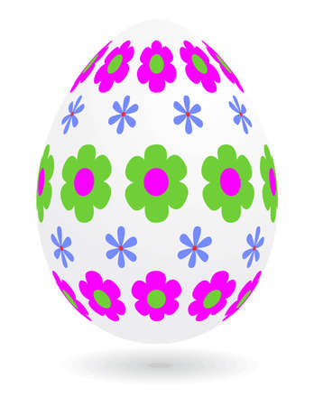 Floral_easter_egg Vector