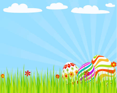 Easter_eggs_on_the_grass  Vector