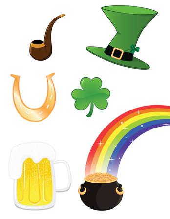 trefoil: Saint Patrick icon set