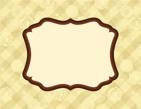 Art Nouveau Frame on wallpaper Vector