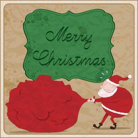 tainted: Hand drawn christmas card with Santa