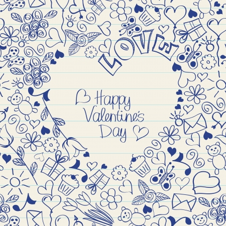 Valentine&acute,s Day seamless card    or wrapping paper  Vector