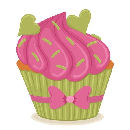 心の隔離された図とケーキ。  イラスト・ベクター素材