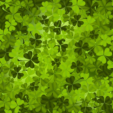 leaved: Three leaved shamrock seamless pattern.
