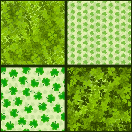 Collection of seamless patterns for St. Patricks day Vector