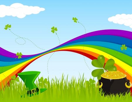 Landscape design for St. Patricks Day Illustration