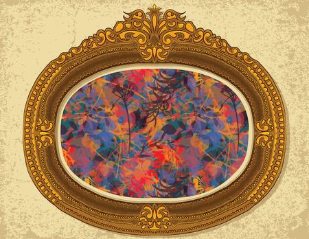 Floral pattern on a vintage frame.
