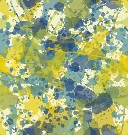 water color: Water color splatters seamless pattern