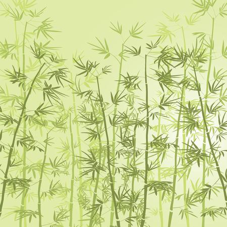 竹の森の背景。  イラスト・ベクター素材