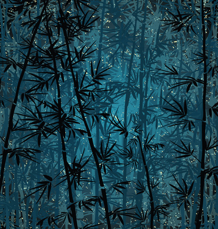 bamboo forest: Bamboo forest background at night