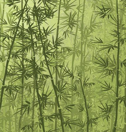 Bamboo forest background. Illusztráció