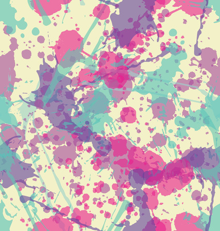 splatter paint: Water color splatters seamless pattern