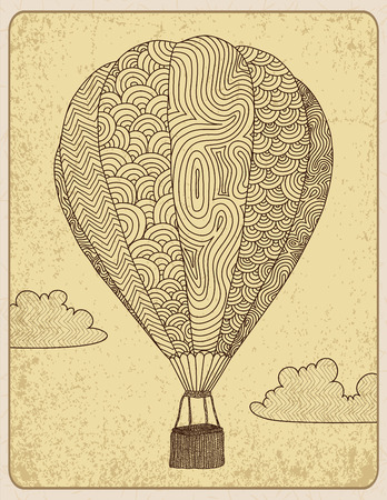hot: Sketchy decorated hot air balloon