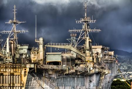 kojen: HDR-Bild des Schiffes in der N�he von Pearl Harbor