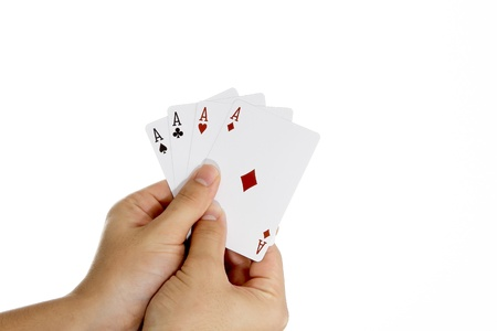 Four Aces in hand photo