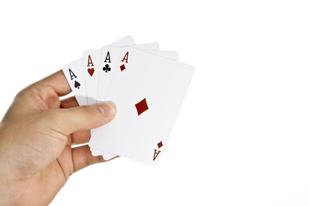 Four Aces in hand Stock Photo - 13178948