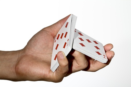 trickster: Deck of cards split in hand