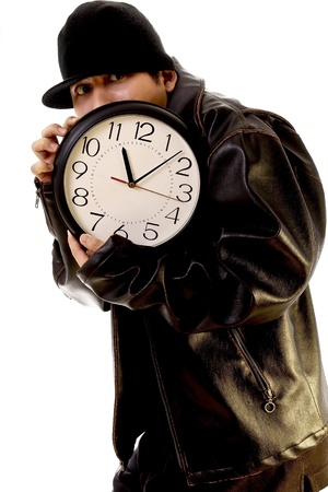 Thief stealing a clock Stock Photo - 13326021