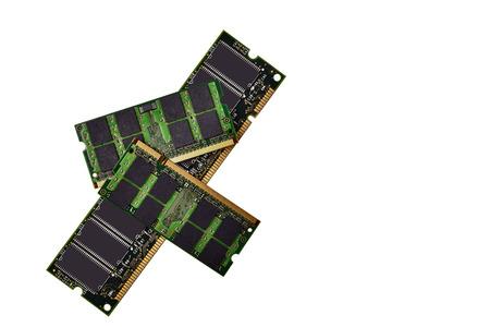 gigabytes: Memory Chips isolated on white Stock Photo