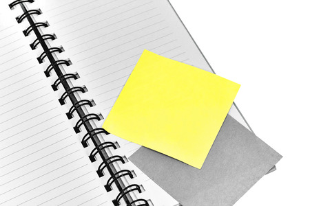 note paper: Spiral bound lined notebook with blank note paper