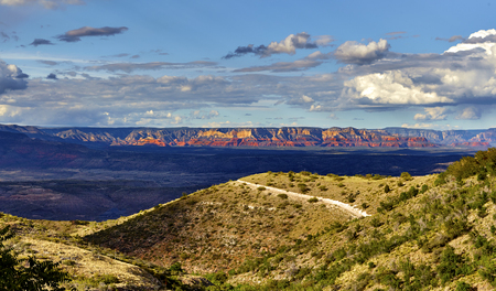 mountaintop: View of red rock mountains in Sedona Arizona  taken from mountaintop in Jerome Arizona Stock Photo