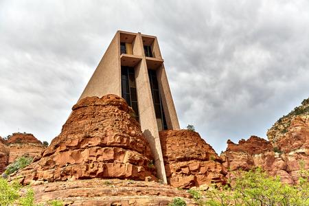 roman catholic: Chapel of the Holy Cross in Sedona Arizona a Roman Catholic Church Stock Photo