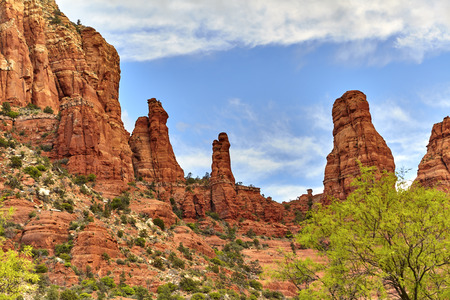 madonna: Madonna and Child Rock Formation in Sedona Arizona