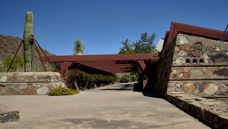 frank: Walkway at Taliesan West, designed by architect Frank Lloyd Wright