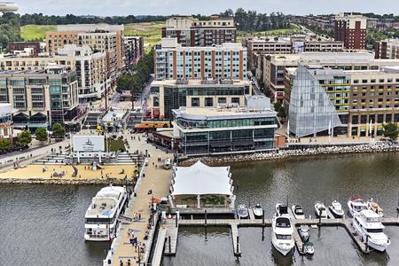 aerial photograph: Ft. Washington, Maryland, USA - June 4, 2016: Aerial photograph of National Harbor