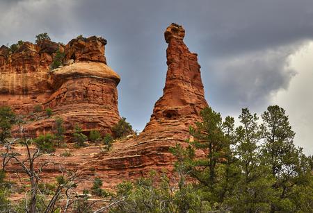 rock formation: Large Kachina rock formation in boynton canyon, Sedona, Arizona