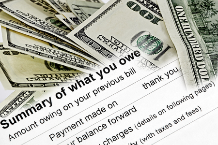 owed: Summary of what is owed on a statement with US Currency