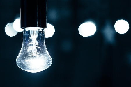 incandescent: Incandescent lamp with bokeh background