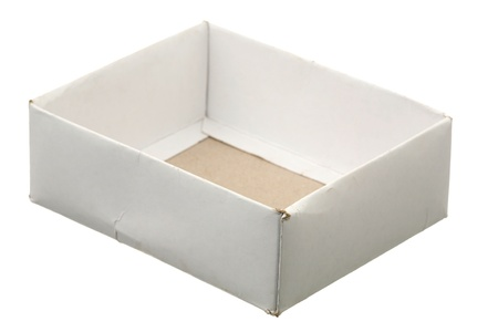 One cardboard box on a white background  Stock Photo - 9303732