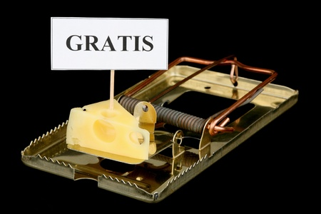 Theres no such thing as a free lunch. Cheese in a mousetrap.