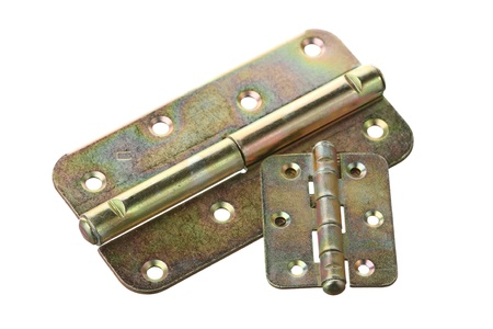 anodized: Two hinges on a white background  Stock Photo