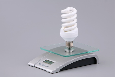 socle: Luminescent bulb and electronic scales