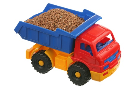 Buckwheat in the truck are isolated on a white background  photo