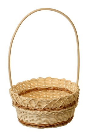 Wattled basket on a white background