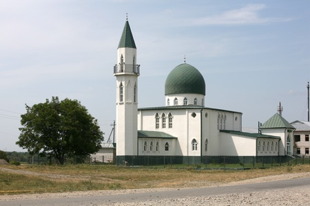 Muslim mosque at a country road. Russia, North Caucasus  Stock Photo