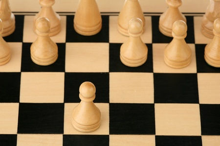 Chess opening - first step of chess competition  photo