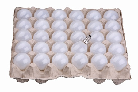 goffer: Thirty matte light bulbs in cardboard packing