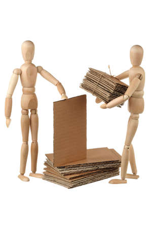 Two dummy stack cardboard on white background Stock Photo - 12639346