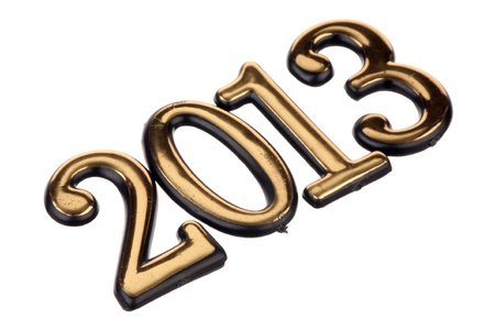 Number 2013 is isolated on a white background  photo