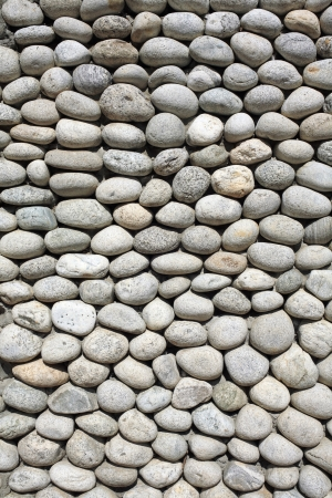 Cobblestone background - image of grey cobblestone background at day