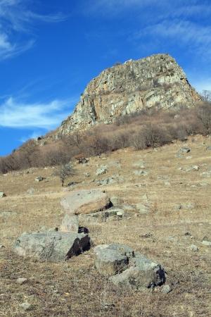 In the mountains of Karachay-Cherkessia in the late autumn