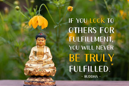 If you look to others for fulfillment, you will never be truly fulfilled - buddha