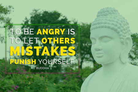 To be angry is to let other mistakes punish youself - buddha Imagens