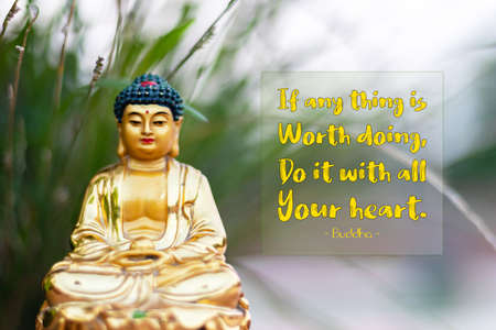 If anything is worth doing, do it with all your heart - buddha